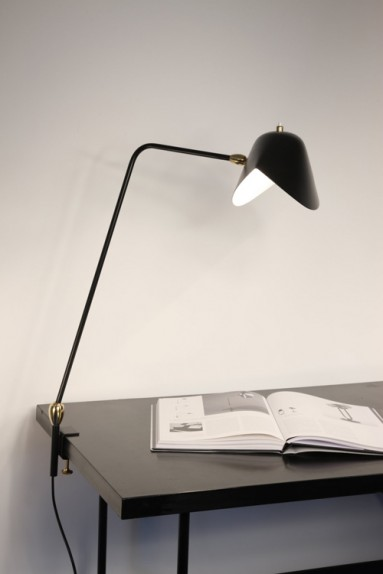Serge Mouille - Serge Mouille double-articulated Agrafée Lamp