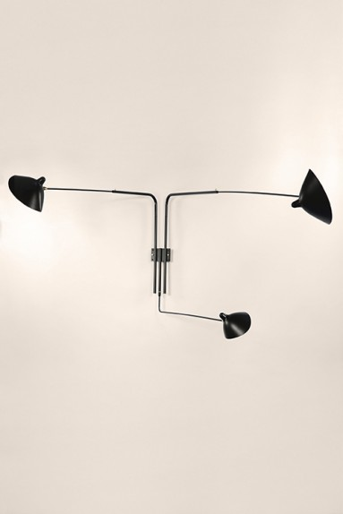 Serge Mouille - Serge Mouille Wall Light with 3 pivoting arms