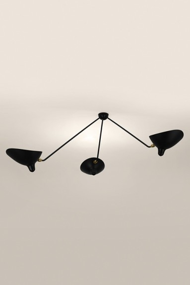 Serge Mouille - Serge Mouille Spider Ceiling Light with 3 fixed arms
