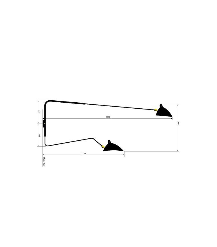 Applique 2 Bras applique 2 bras pivotants dont 1 courbe serge mouille i uber-modern